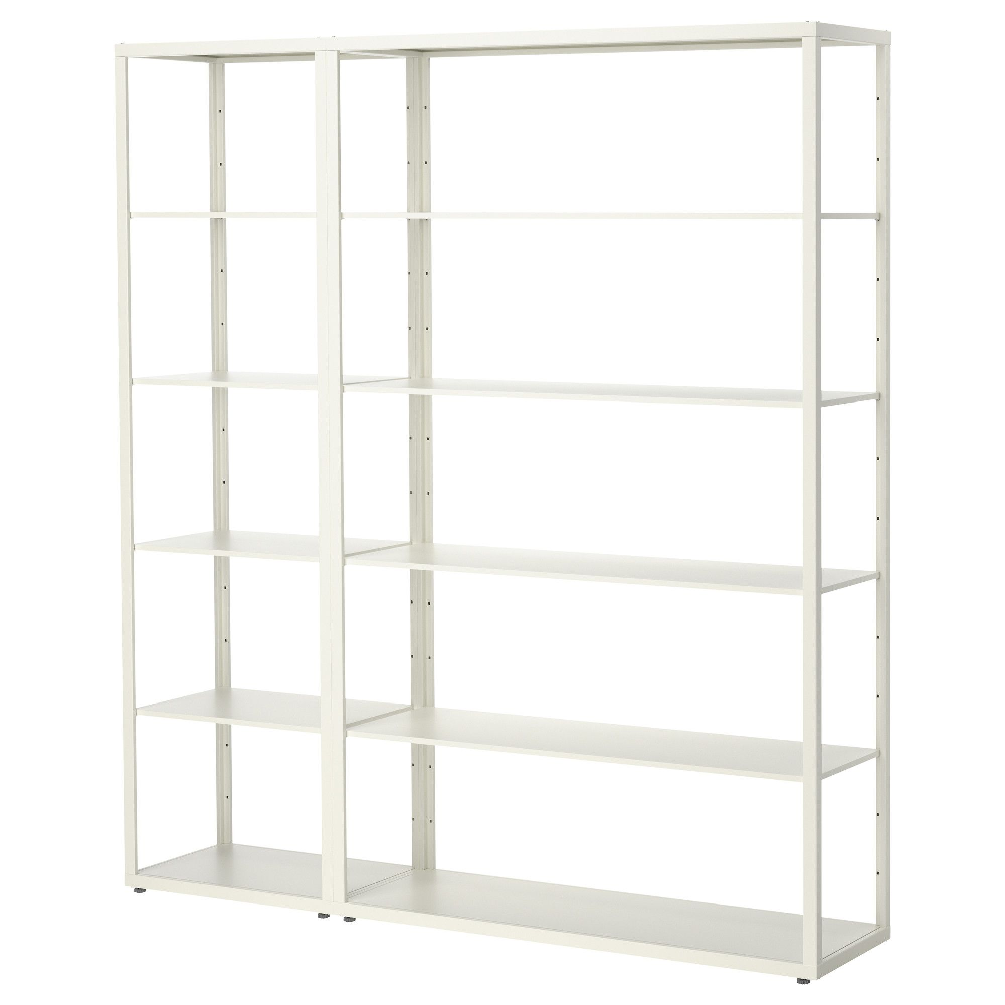IKEA - FJLKINGE, Shelving unit, The long, slender shelves give the shelving  unit