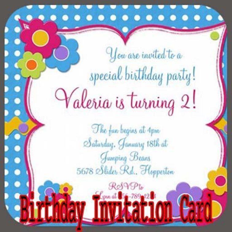 Birthday Party Invitation Cobypic Com