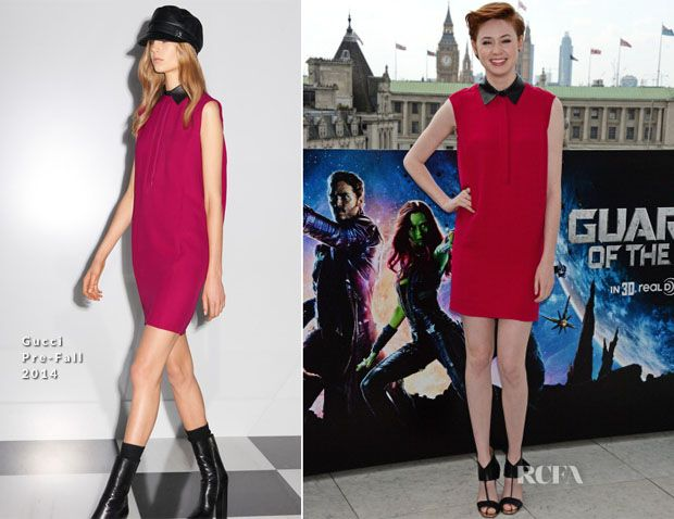 Karen Gillan In Gucci – 'Guardians Of The Galaxy' London Photocall