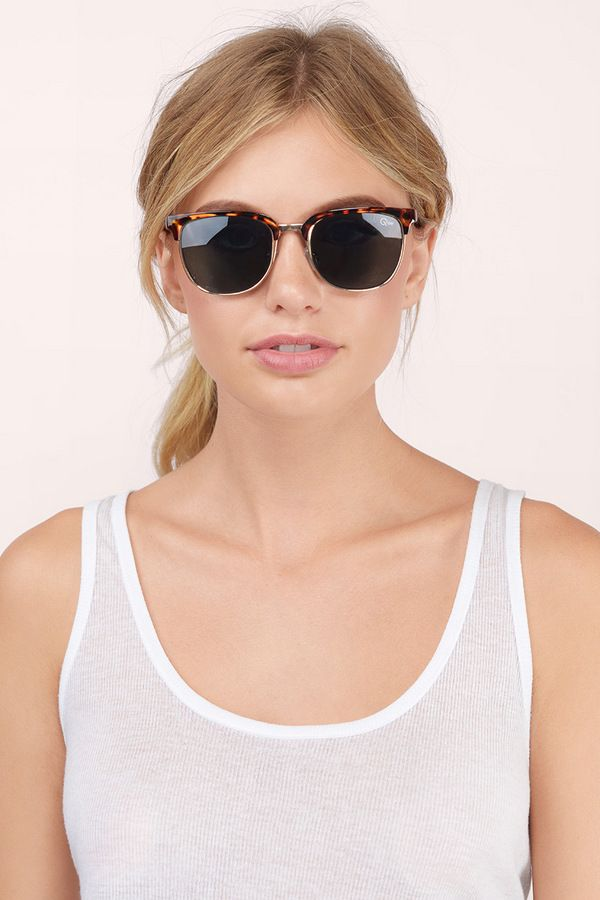 87dc1e163a6d1 Tortoise QUAY Flint Sunglasses at  40