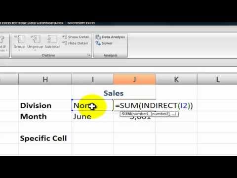 Use the Indirect Function to Create Excel Dashboards Work Pinterest
