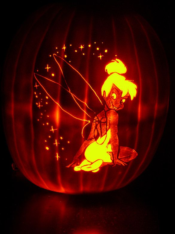 Printable Tinkerbell Pumpkin Templates  Designs  Free