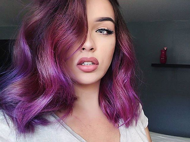 Happy Thursday #Dyehards! Please enjoy this post of the #lovely @cate.x__ in a #stunning #HotHotPink and #UltraViolet concoction