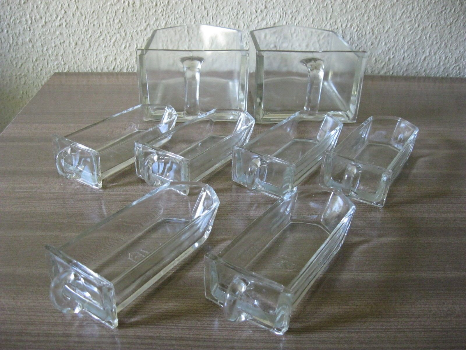 Bauhaus Küchenarbeitsplatte ~ 8 x schütte glas vlg monopol rautenglas 30er jahre wagenfeld Ära