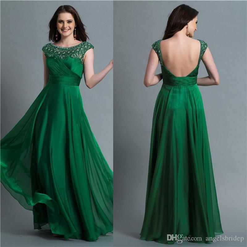 Venta Al Por Mayor Elegante De Color Verde Esmeralda Vestidos De ...
