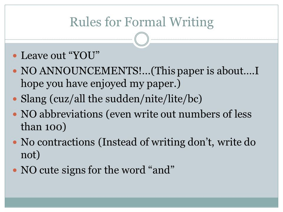 dos and donts of writing an essay