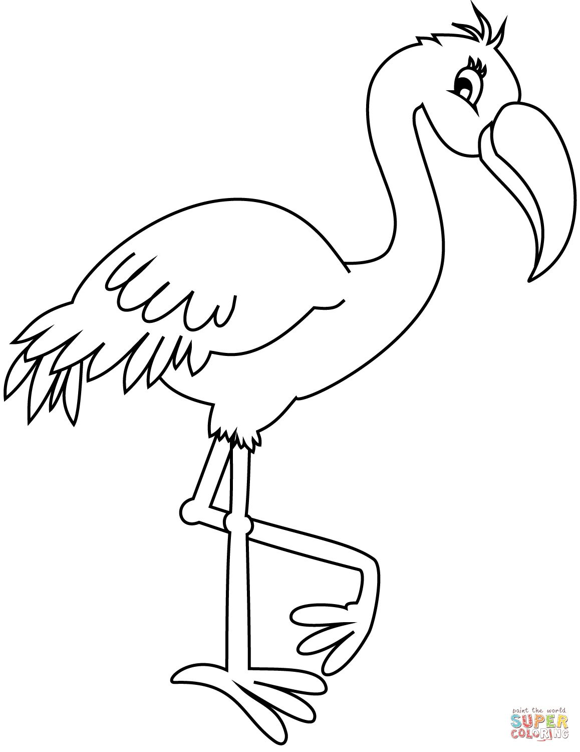 Flamingo Coloring Pages Flamingo Coloring Page Free Printable