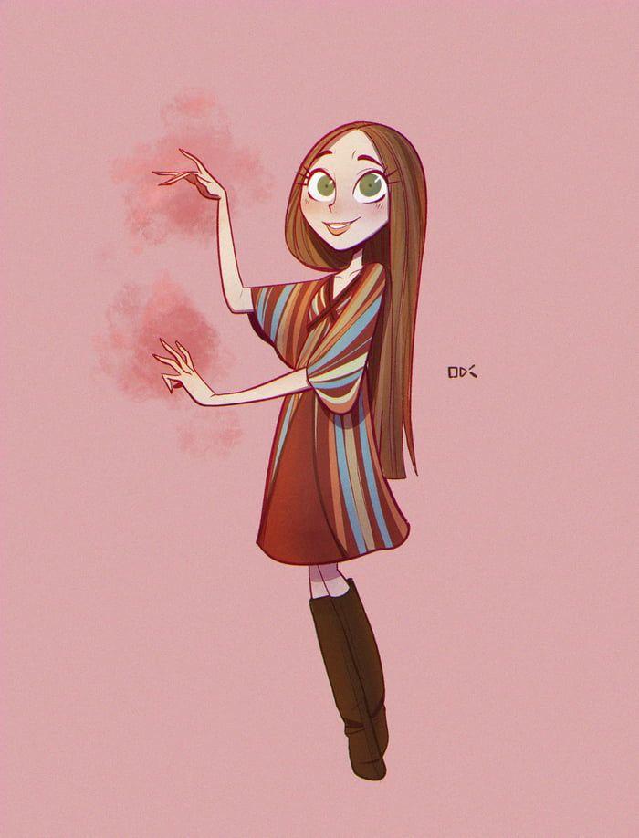 Guys, I drew Wanda Maximoff <3