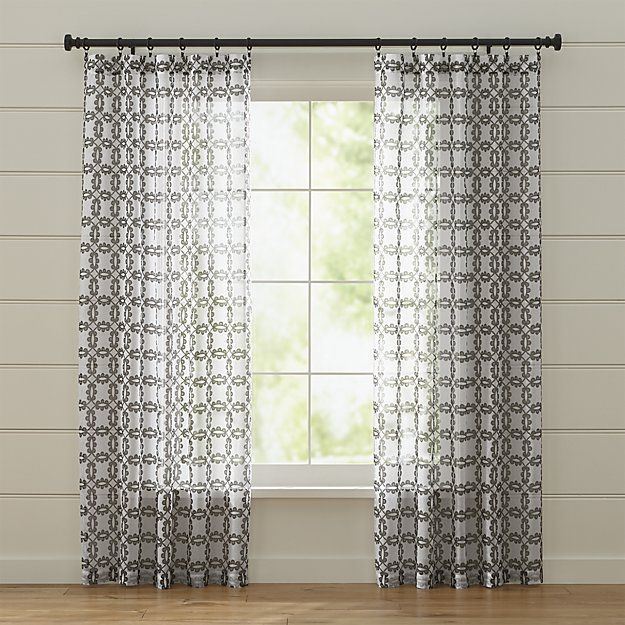 Molly White and Grey Curtains   Crate and Barrel. Molly White and Grey Curtains   Crate and Barrel   Smith Ranch