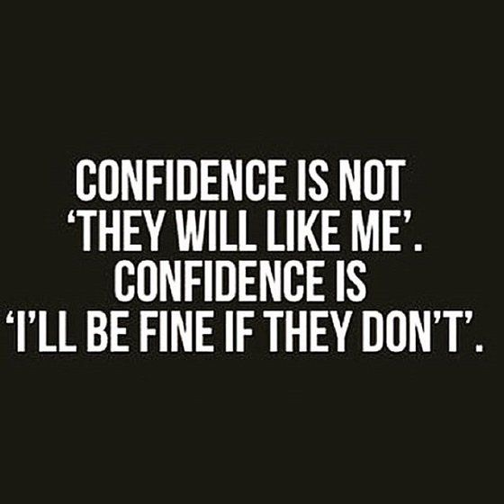Confidence means 'Being Your Authentic Self'. #authenticity #backbone
