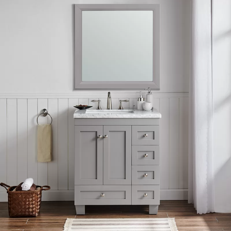Lauder 30 Single Bathroom Vanity Set Grey Bathroom Vanity Single Bathroom Vanity 30 Inch Bathroom Vanity