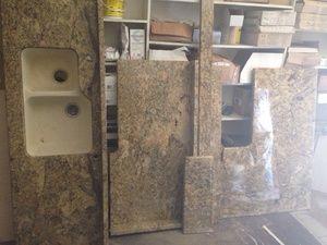 16u0027 Of Granite Countertop With Cast Iron Double Sink In Cincinnati, OH  (sells