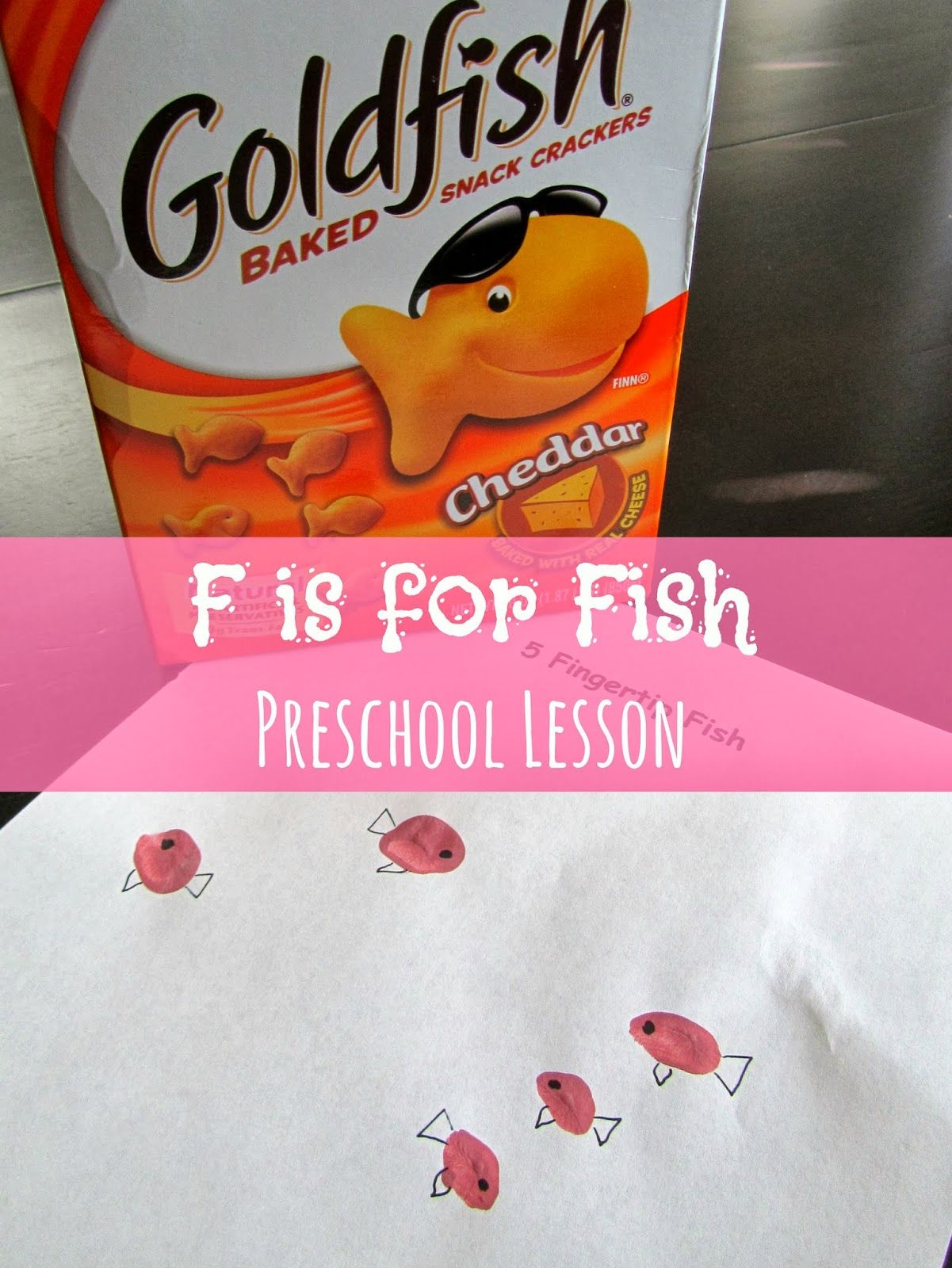 F is for fish preschool lesson - teaches letter F, color pink, and ...