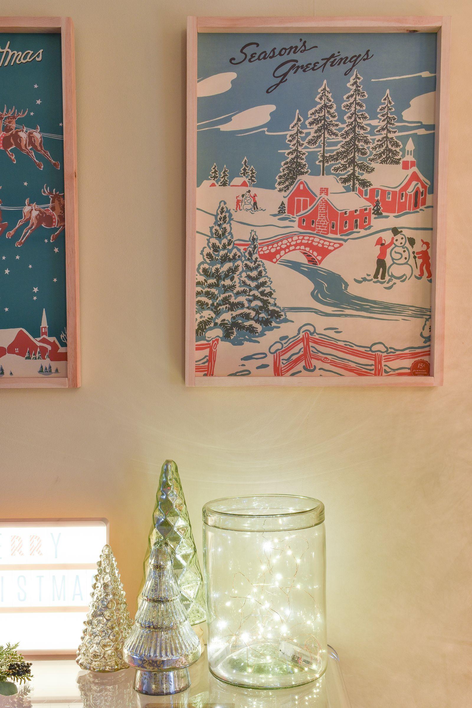 Home Made Christmas Wall Art Diy Christmas Wall Christmas Art Retro Christmas Decorations