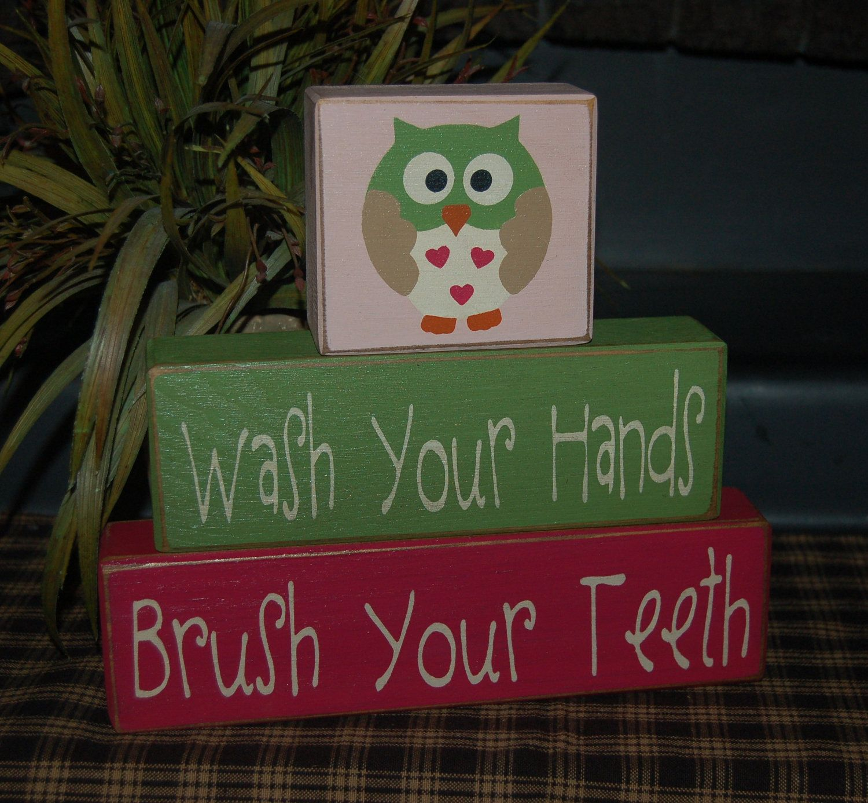Owl Bathroom Set Brush Your Teeth Kids Bath Room Circo Love And Nature Ducks