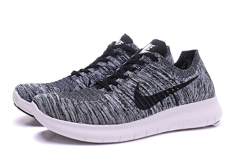 nike free rn flyknit Dark Grey Black Womens