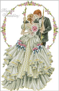 cotton threads 14ct free cross stitch patterns happy wedding lover european cartoon embroidery kit cross