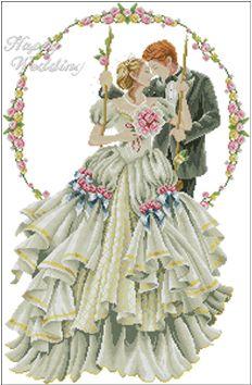 cotton threads 14ct free cross stitch patterns happy wedding lover european cartoon embroidery kit cross