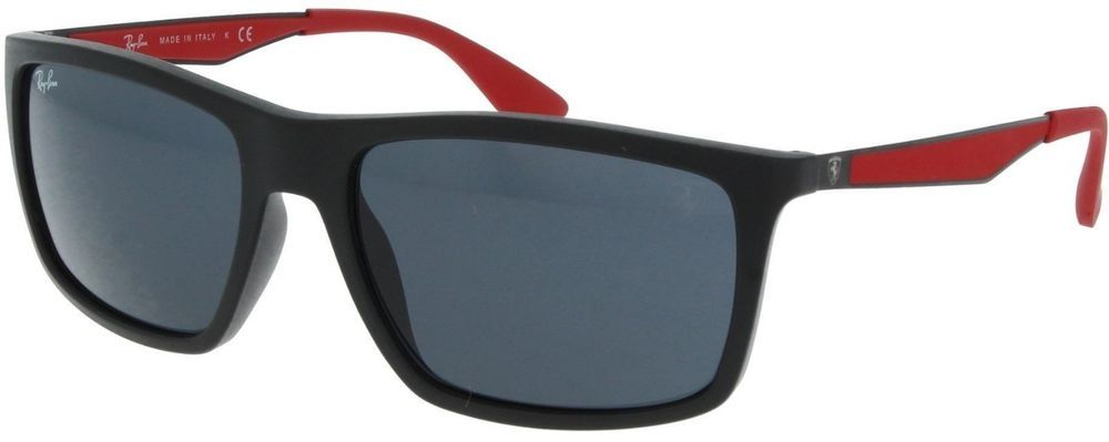 3e5159288 Ray Ban Scuderia Ferrari Collection RB4228M F60287 58 Black Gunmetal Red /  Grey (eBay Link)