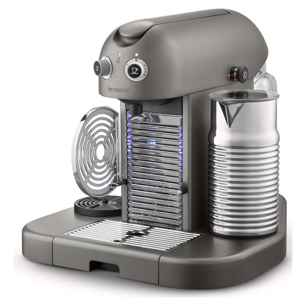 [1] Nespresso Gran Maestria Espresso Machine, Titanium