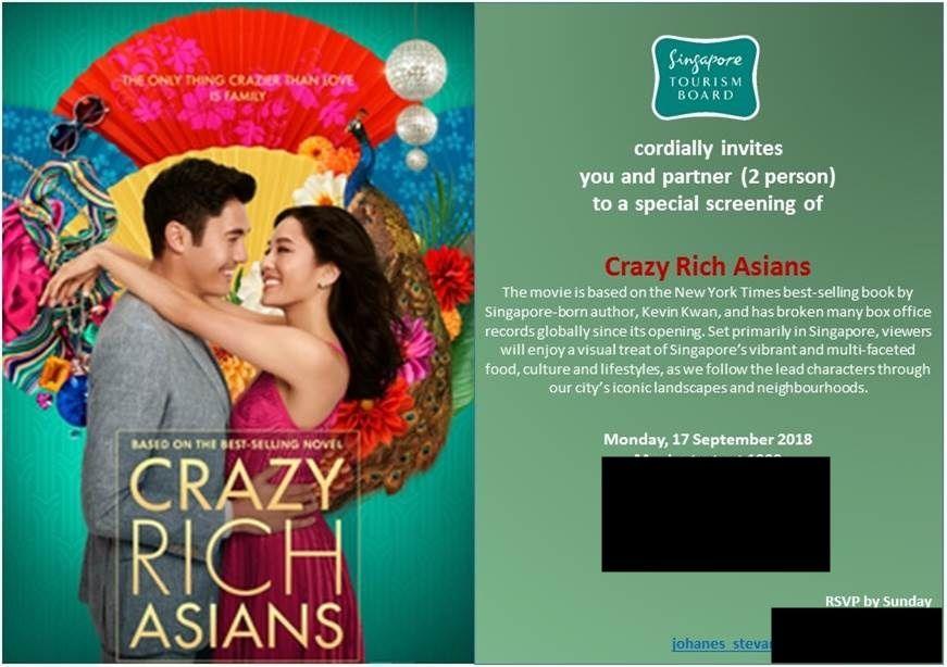 Nonton Bareng Crazy Rich Asians, dan Sensasi Nonton Bersama Mbak - Mbak Jomblo