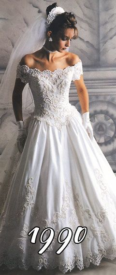 The Wedding Dresses 1990 Impression Gorgeous Wedding Dress