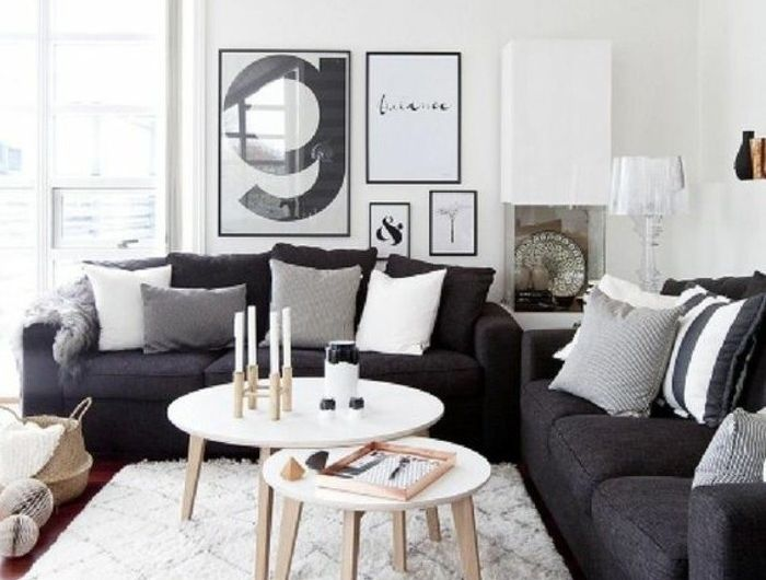 Awesome Deco Salon Blanc Amenagement Salon Scandinave Canapes Couleur