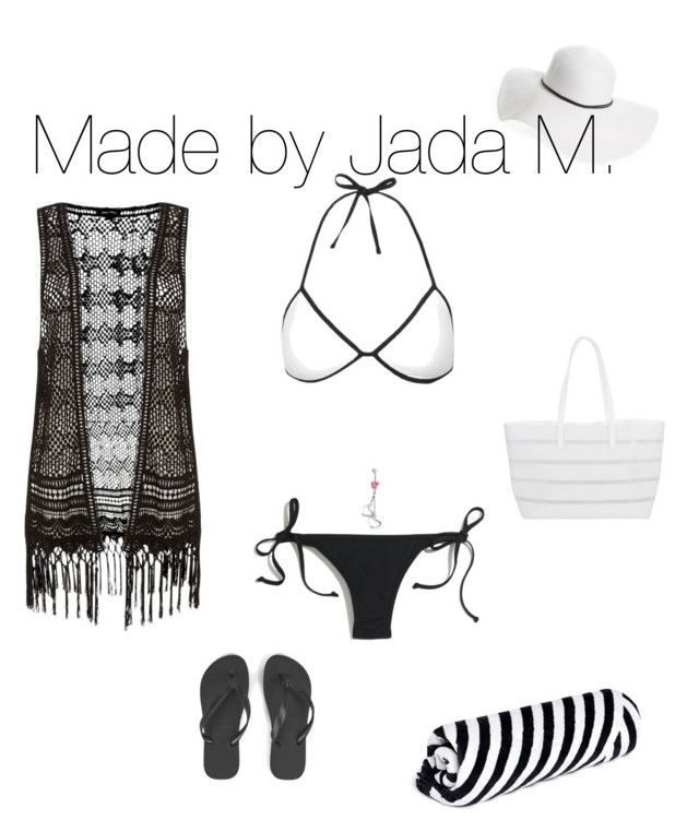 """Untitled #103"" by sexygirljada on Polyvore featuring Topshop, Madewell, David & Young, The Beach People, Havaianas, Bling Jewelry and BUCO"