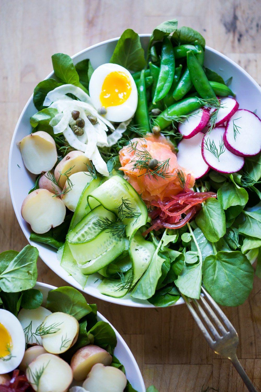 Nordic Nicoise Salad W Watercress Smoked Salmon Dill Recipe Smoked Fish Watercress Salad Salad
