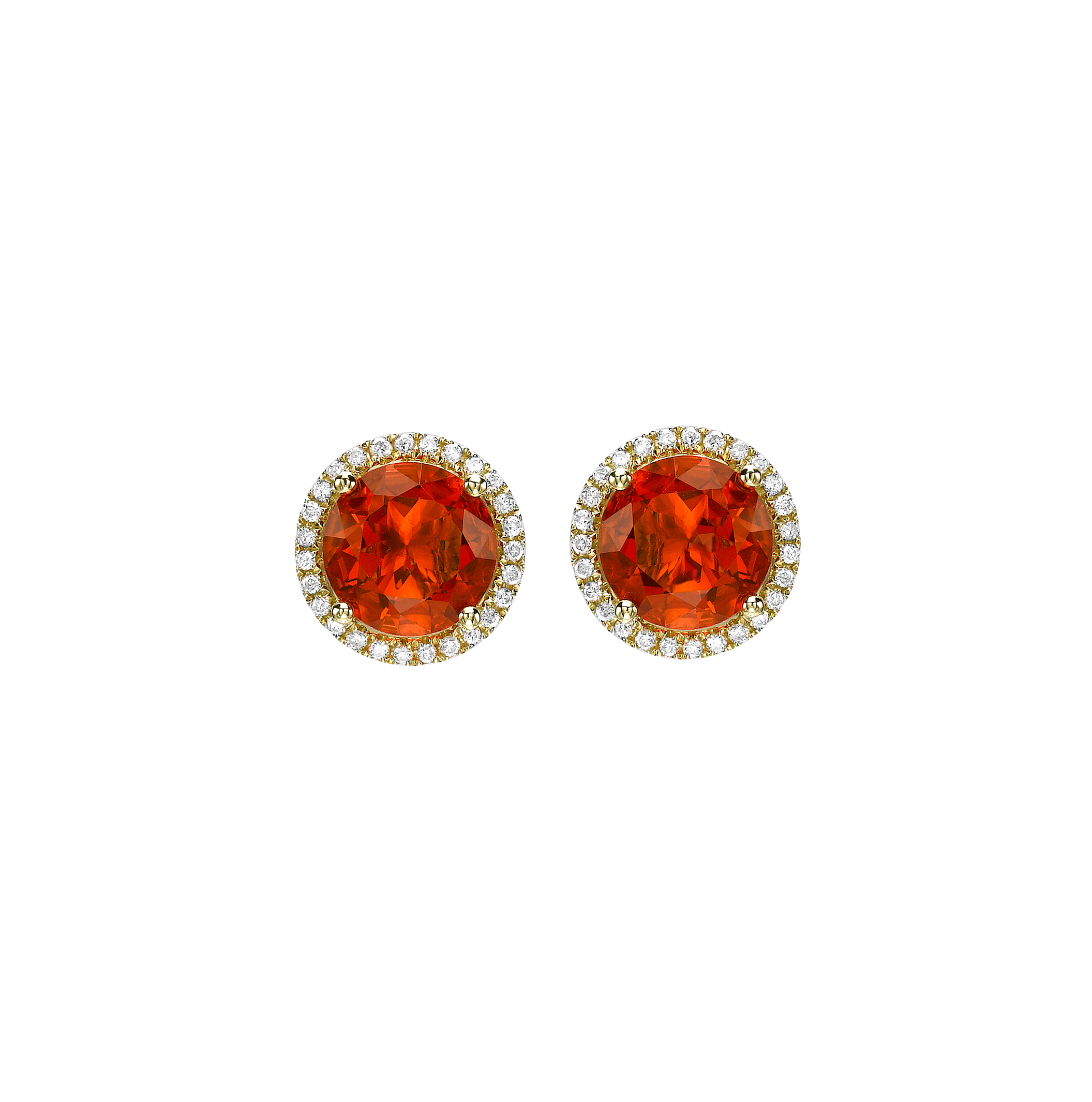 0948c34d9 An exclusive addition to the Grace Collection, Kiki's most popular studs  are now available in the rare and exquisite fire opal.