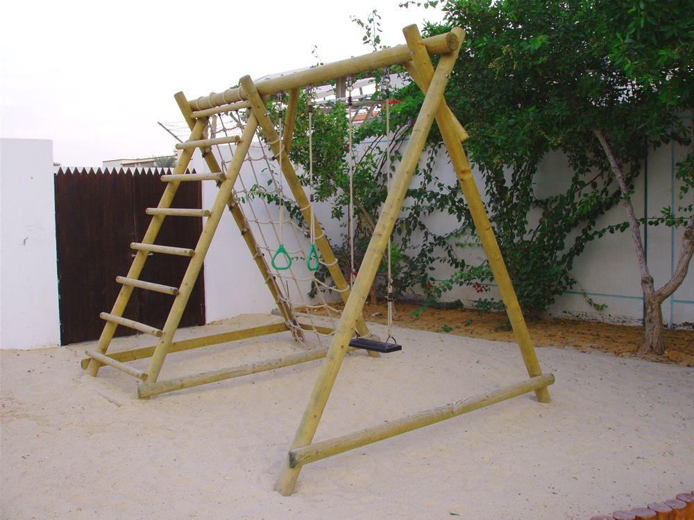 Double Swing with Net Frame   Outdoor Kids   Pinterest   Swings ...