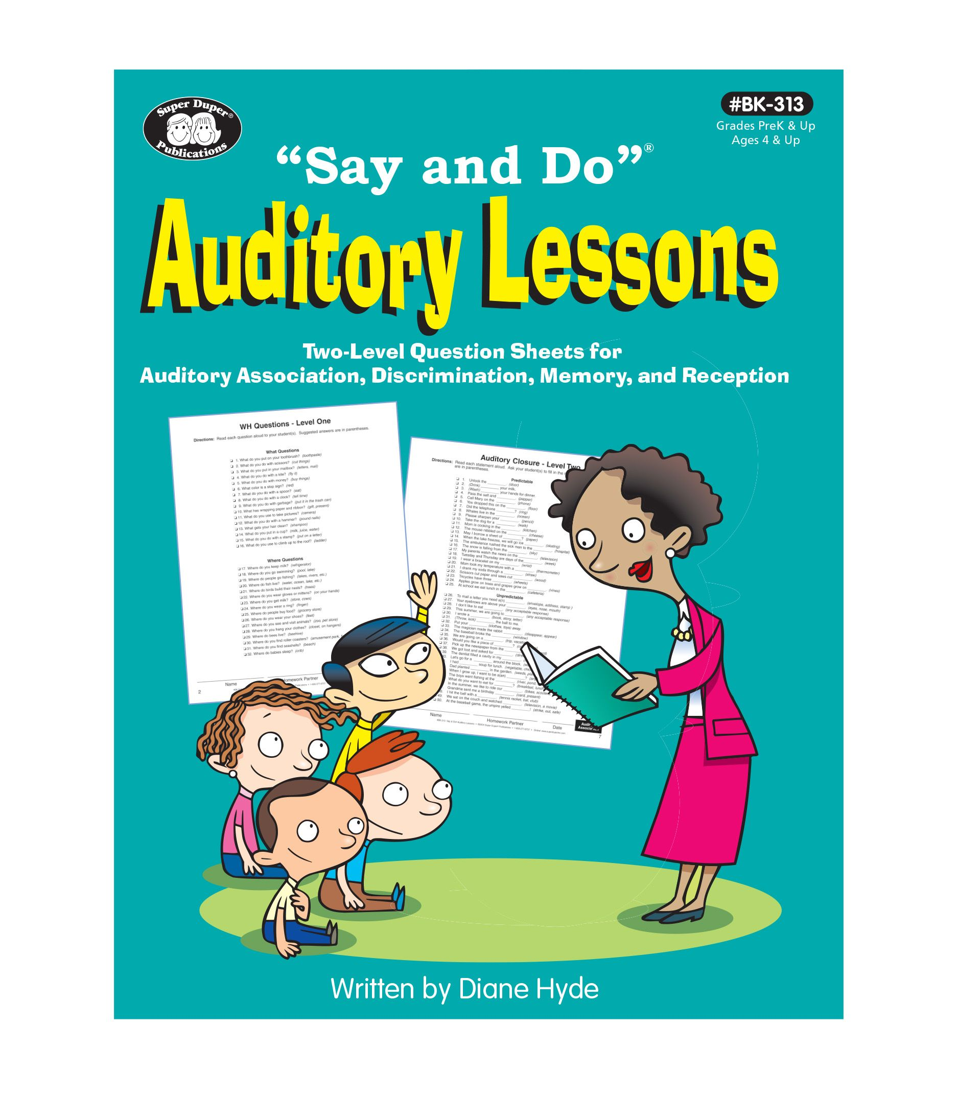 Say And Do Auditory Lessons Book