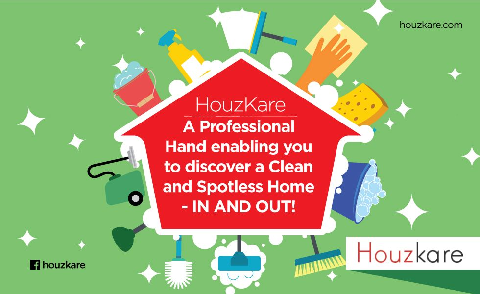 Houzkare offers unique Professional Cleaning Services with top class industry standard equipment and materials that are eco-friendly in nature. Unlike most other companies, we include cleaning of the interiors and all the appliances as a part of our service offering and we consider our job done only when we provide 100% customer satisfaction! Get in touch with Houzkare and observe an immaculate transformation of your house! http://www.houzkare.com #IndikrewIsHouzkare #HomeCleaning