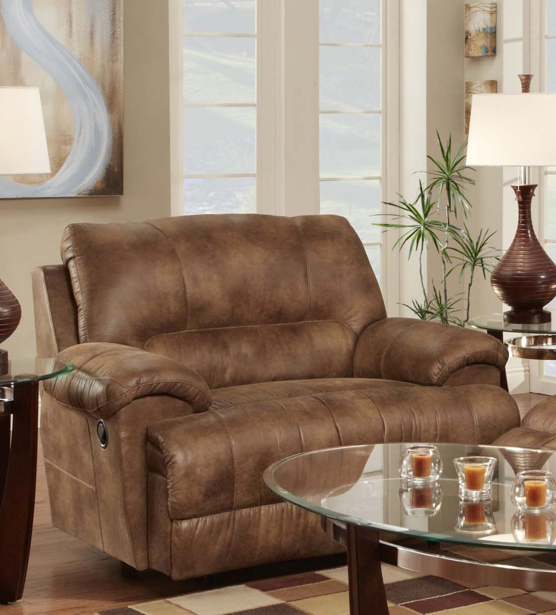 Caswell Chair and Half Recliner Franklin Furniture
