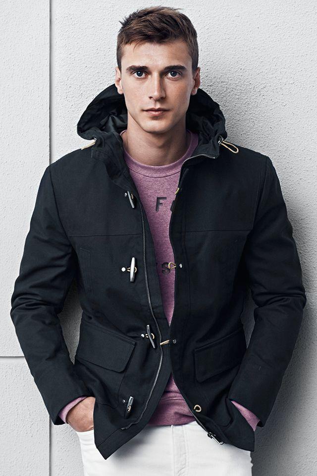 49ea5166894d H M Dark blue duffel coat with Toggle Closure
