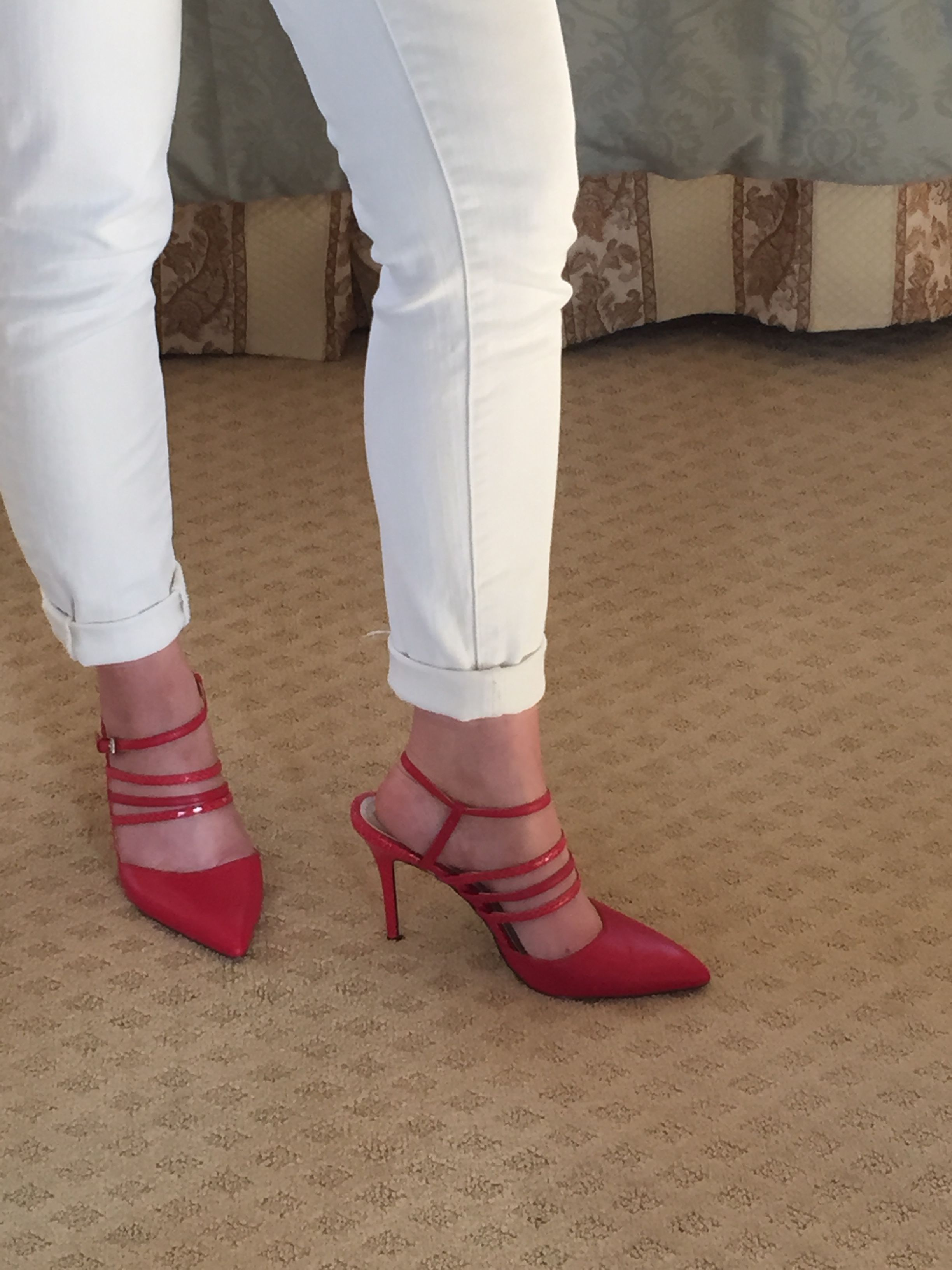 Awesome red pumps! They are comfortable too!