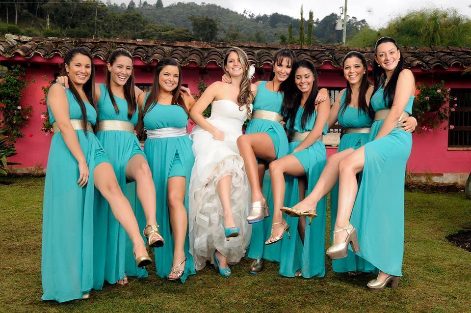 damas de honor azul | Boda!!! | Pinterest | Cinturon plateado ...