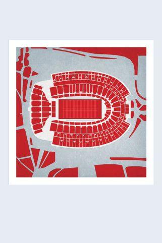 The Shoe City Prints Ohio Stadium Map Art