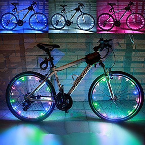 Practical Cycling Bicycle Bike Spoke Tire Wire Tyre Bright LED Light Flash Lamp
