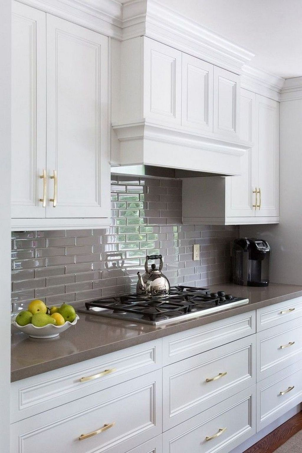White Cabinets Dark Countertops And Slate Backsplash Trendy Kitchen Backsplash Backsplash For White Cabinets Slate Backsplash