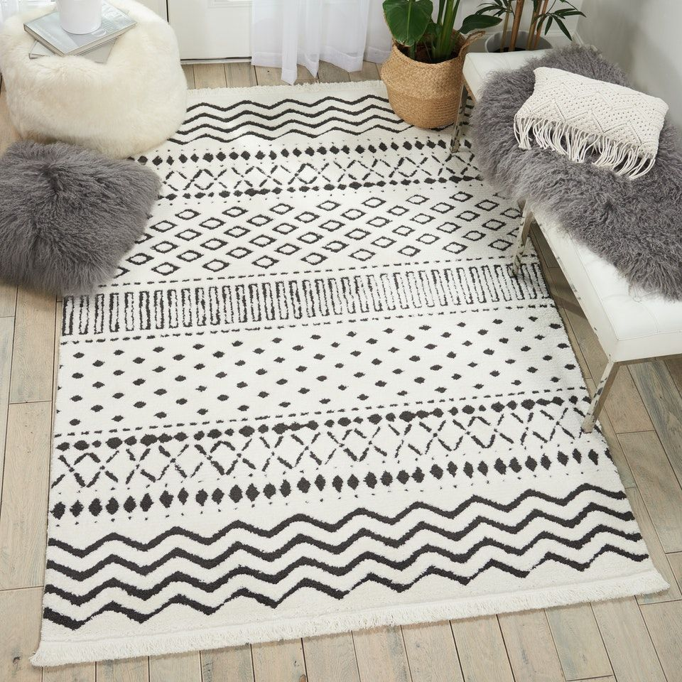 KAMALA Rug in White by Nourison UK