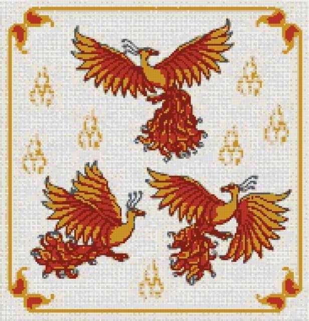 Схемы вышивки жар-птица