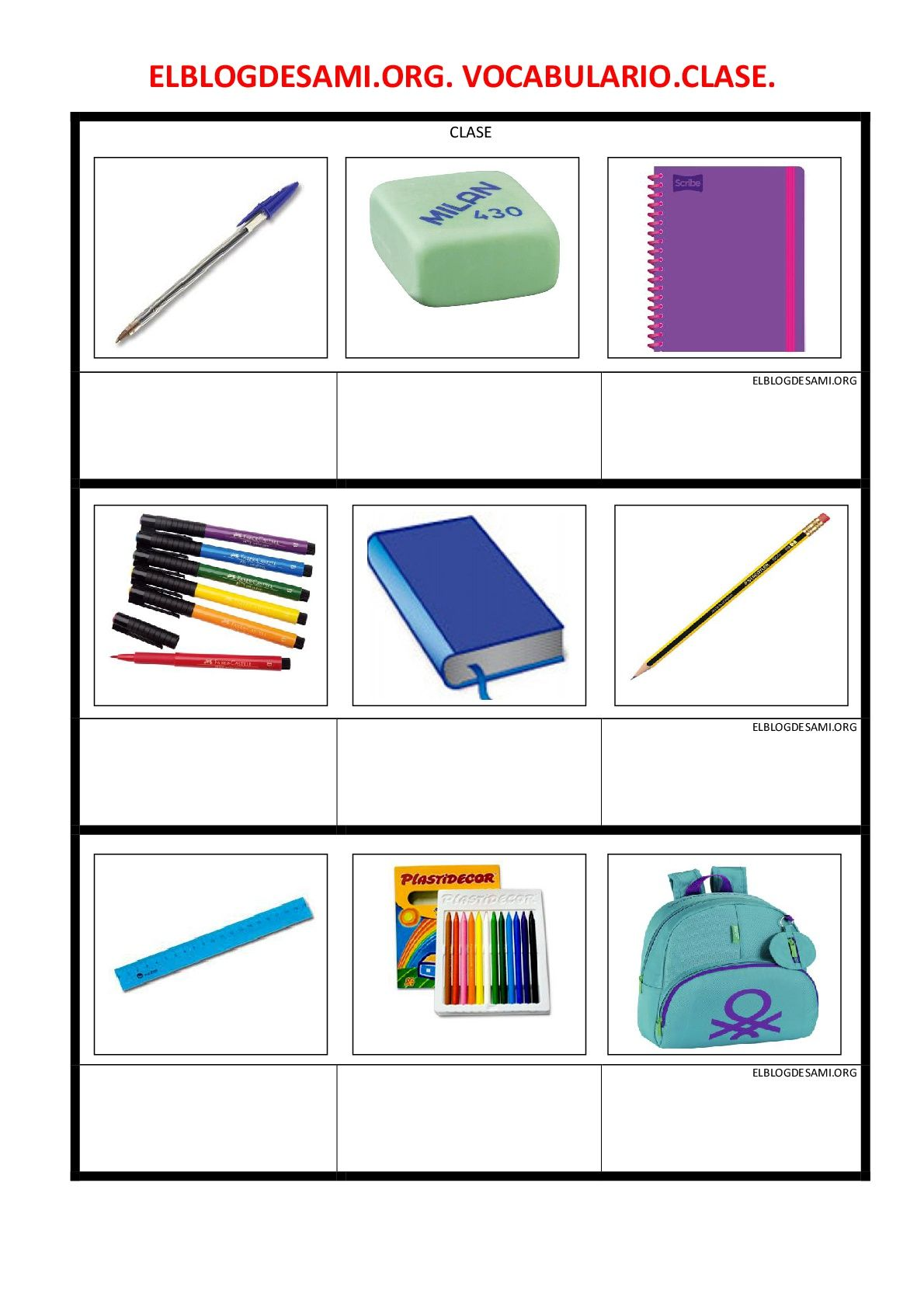 Objetivo(s):  Aprender el vocabulario básico sobre objetos de la clase/aula. … Leer más