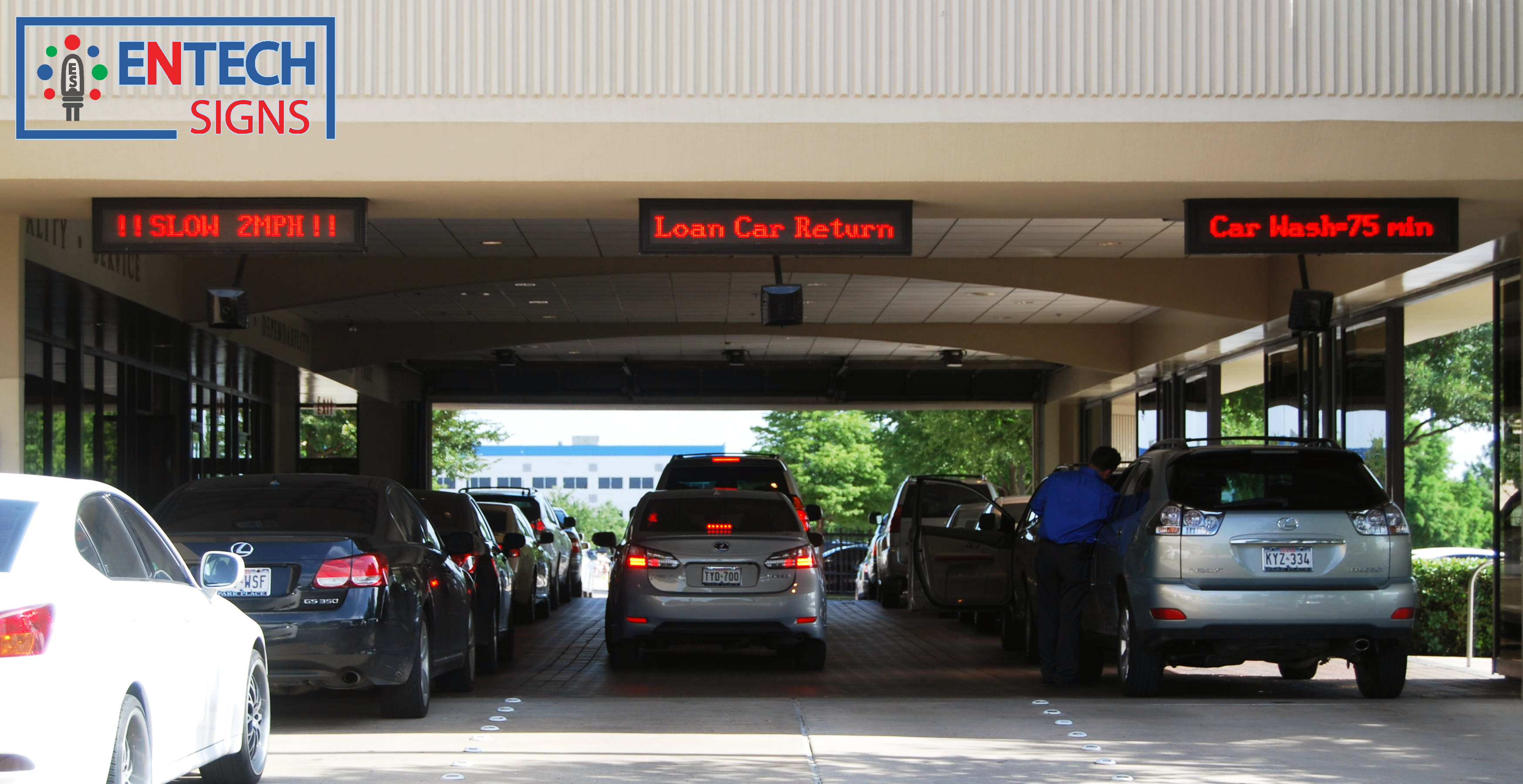 How Park Place Lexus Of Grapevine Car Dealership Enhances Customer  Experience With Service Department Digital LED Signs!!