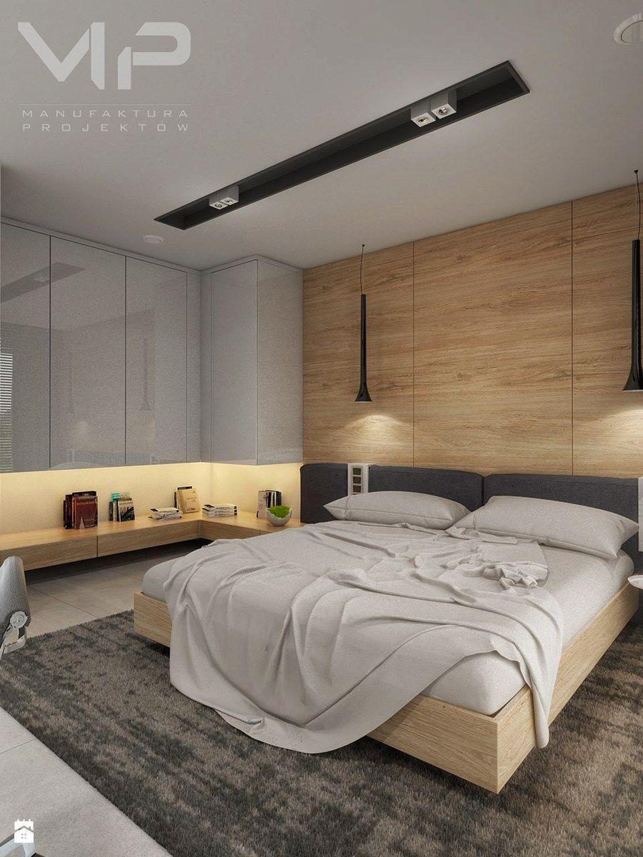 interior dom w rudach sypialnia styl nowoczesny zdja™cie od