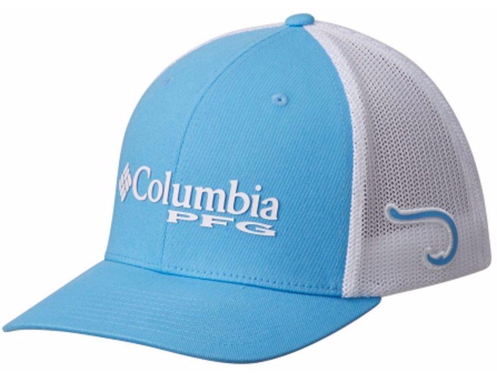 1fb2d40eb3e Columbia Sportswear Men s PFG Mesh Ball Cap Vivid Blue Fitted Hat NWT   Columbia  BaseballCap