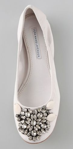 c87adbd6d04d  jeweled ballet flats from Vera Wang Lavender Label. pretty Flat Shoes  new