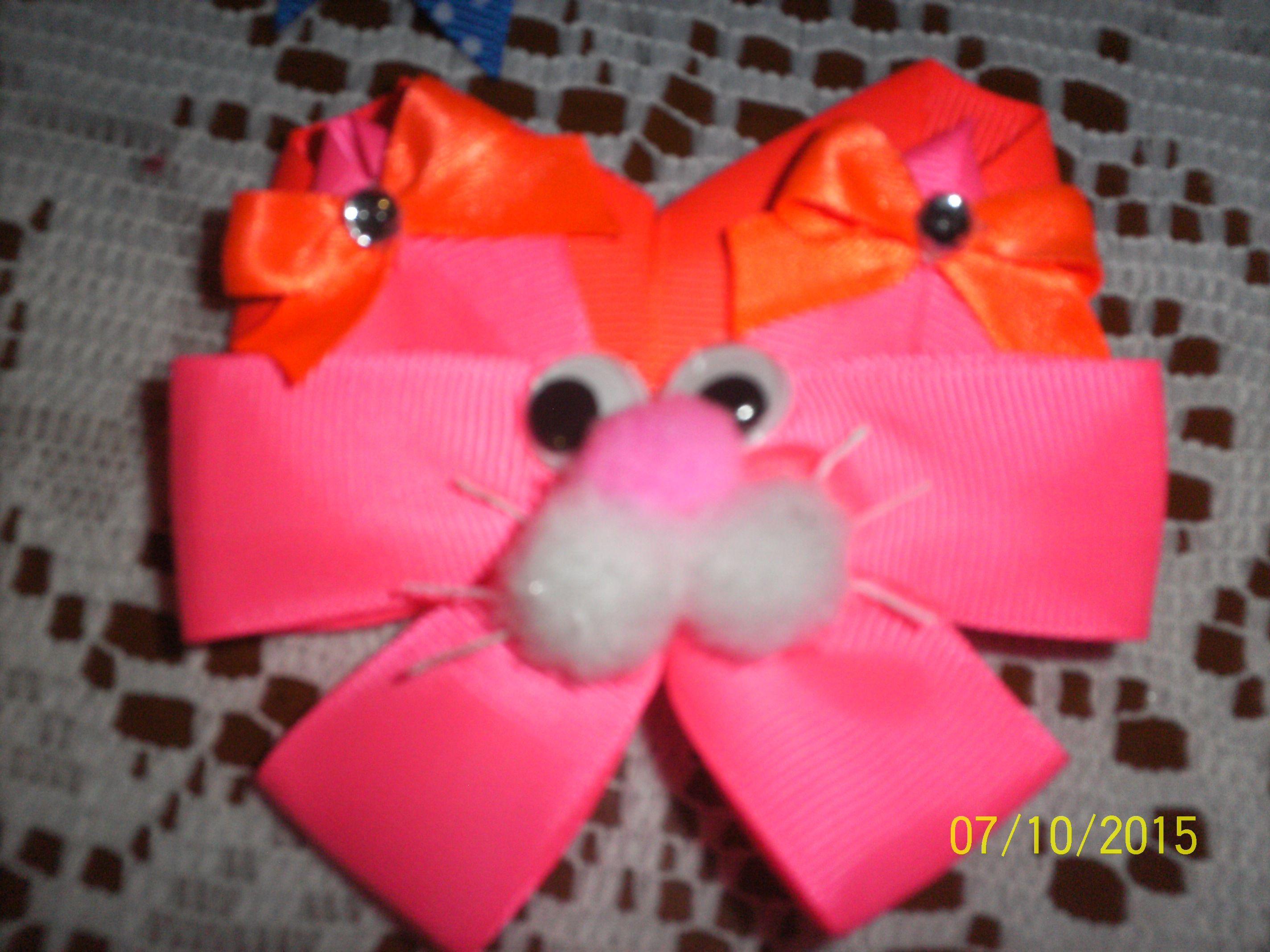 Lazo de Coneja Rosada con Naranja