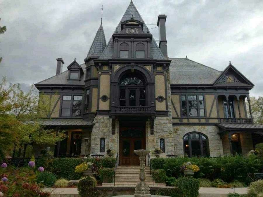 Gothic Because Of The Colors And The House Is Tall With Lots Of Points And Windows Gothic House Gothic Revival Architecture Spanish Style Homes