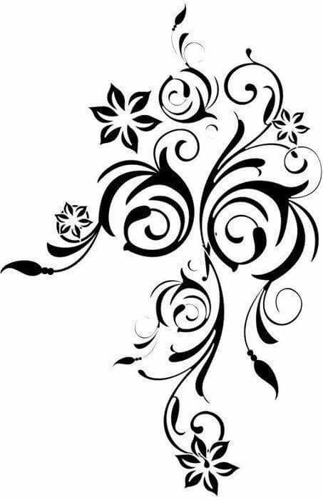 Cicek 13 Stensiller Desenler Nakis Desenleri